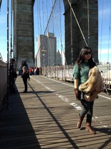 Brooklyn Bridge Posing